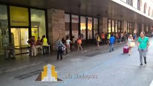 Distribuzione pasti alla stazione Termini