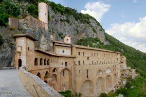 Pellegrinaggio al Sacro speco di Subiaco, monastero San Benedetto